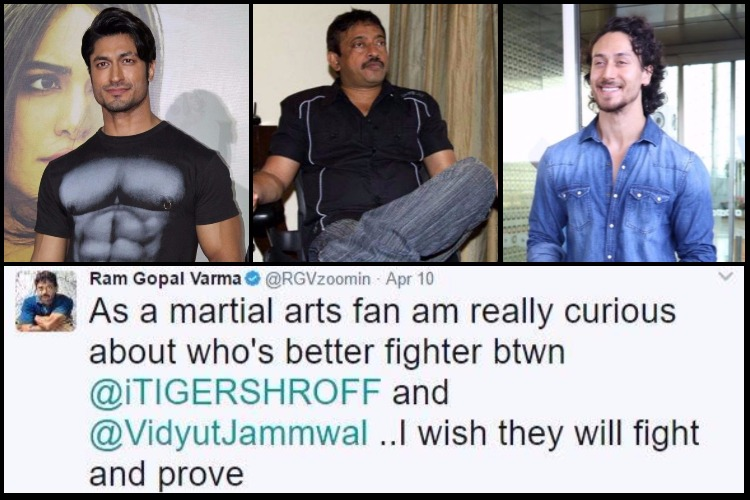 After calling him 'bikini babe', Ram Gopal Varma now wants Tiger Shroff to fight Vidyut Jammwal