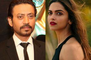 Irrfan Khan and Deepika Padukone