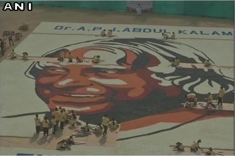 Students make paper cup mosaic of former President APJ Abdul Kalam, enter GuinnessBook