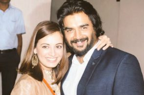 Dia Mirza and R Madhavan (Courtesy: Twitter/@deespeak)
