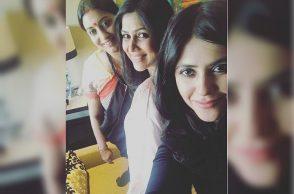 Ekta Kapoor, Sakshi Tanwar and Smriti Irani (Courtesy: Instagram/ektaravikapoor)