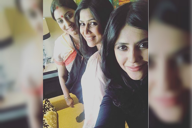 Photo: Ekta Kapoor shares selfie starring 'Tulsi' Smriti Irani and 'Parvati' Sakshi Tanwar