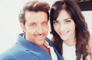 Hrithik Roshan and Angela Kriskinzki (Courtesy: Twitter/@angelakrislinzk)