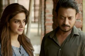 Irrfan Khan and Saba Qamar (Courtesy: YouTube/T-Series)