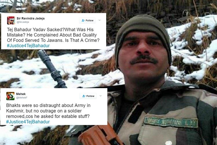 After constable Tej Bahadur Yadav's sacking, BSF's harsh decision faces major Twitterbacklash