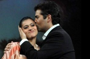 Karan Johar and Kajol (Courtesy: Twitter/ @RameshM39773073)