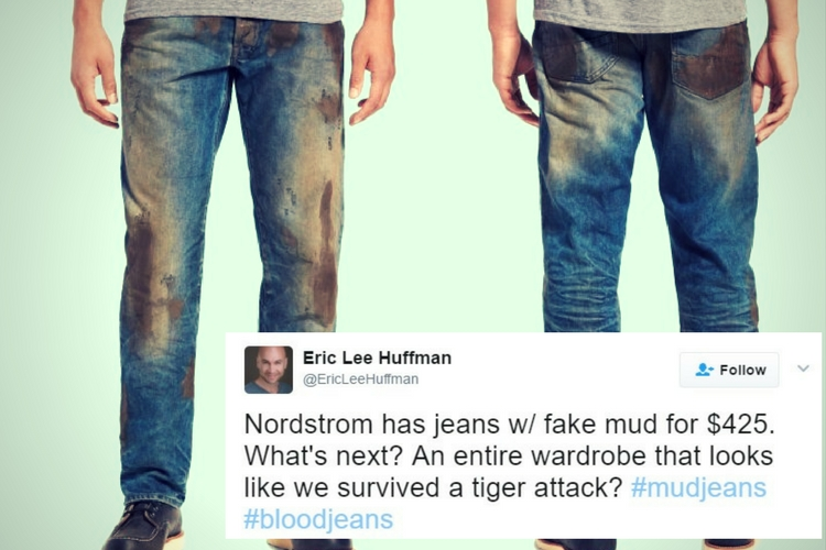 Reebok trolls fake 'muddy' jeans with fake 'sweaty' T-shirt