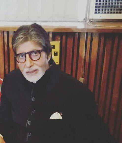 Amitabh Bachchan on the sets of Padman
