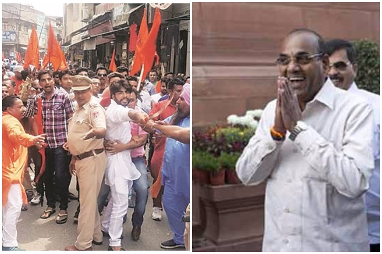 Not just Ravindra Gaikwad, today even Anant Geete proved that Shiv Sena is masquerading hooliganism withpolitics