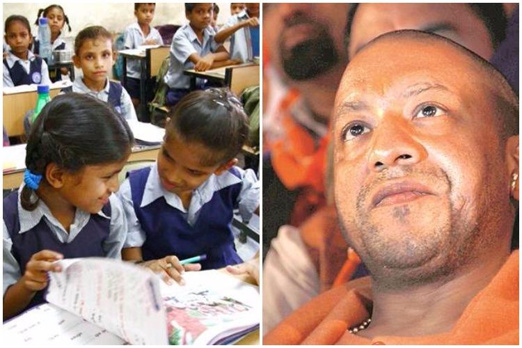 UP ministers want 'bhagwa' coloured school uniforms; Yogi Adityanath scrapsidea