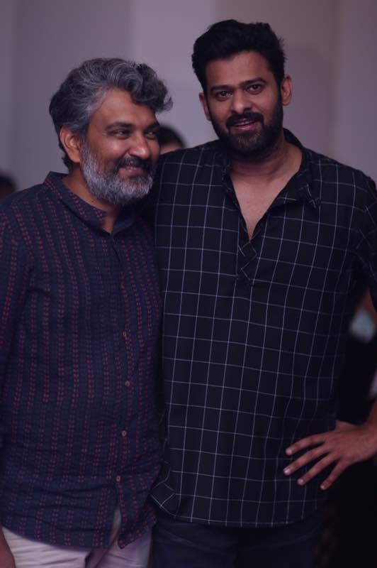 Prabhas and SS Rajamouli (Courtesy: Twitter)