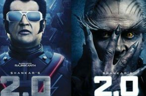 Rajinikanth and Akshay Kumar in 2.o posters (Courtesy: Twitter/@indiacom)