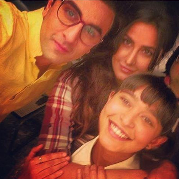 Ranbir Kapoor, Katrina Kaif and Sayani Gupta from the sets of Jagga Jasoos