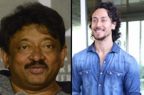 Tiger Shroff and Ram Gopal Varma (Courtesy: IANS)