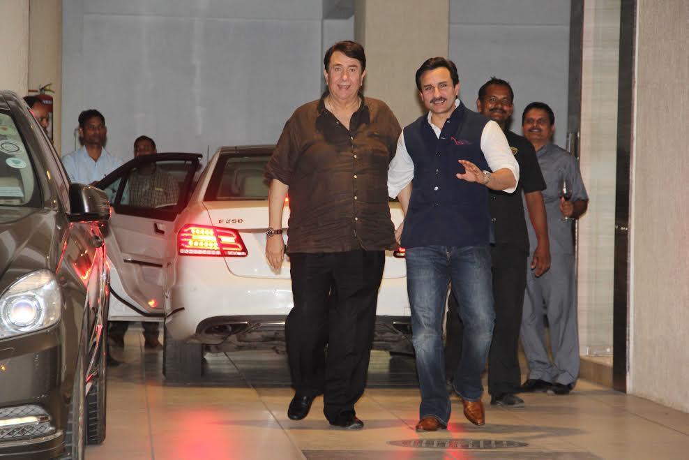 Saif Ali Khan and Randhir Kapoor (Courtesy: Varinder Chawla)