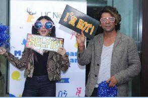 Sunny Leone and Sunil Grover. (Courtesy: Twitter/UC News)