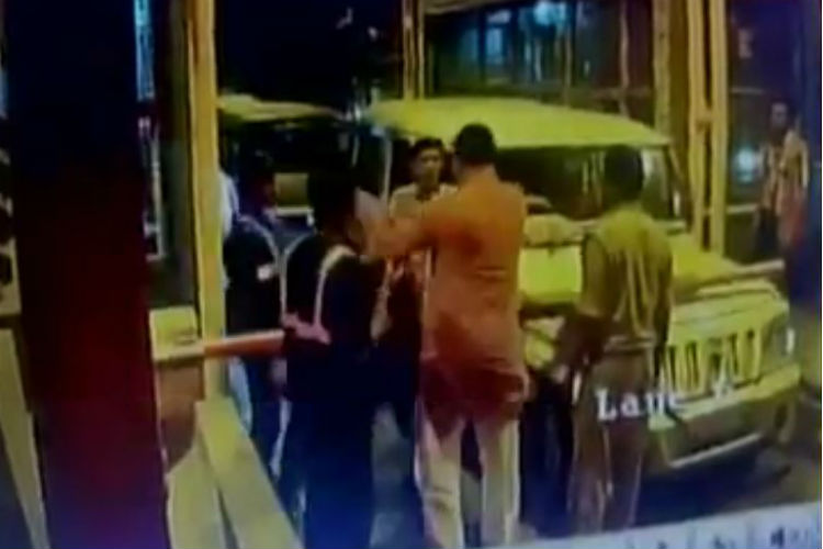 Watch: BJP MLA slaps toll plaza employee in UttarPradesh