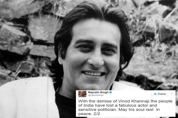 Bollywood star Vinod Khanna dies, aged 70