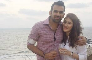 Zaheer Khan and Sagarika Ghatge (Courtesy: Twitter/@sethu1215)