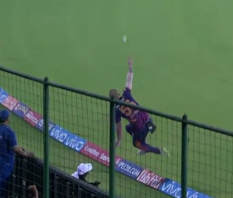 Ben Stokes takes a supernatural catch