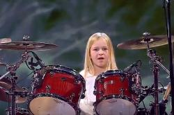 This 10-year-old drummer playing Led Zeppelin's Whole Lotta Love can give professionals a run for their money