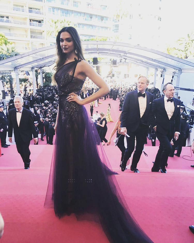 Deepika Padukone on the Cannes red carpet