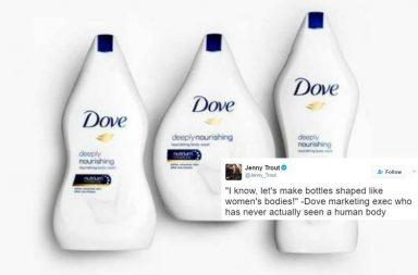 Dove, Dove Body Shaped Bottles