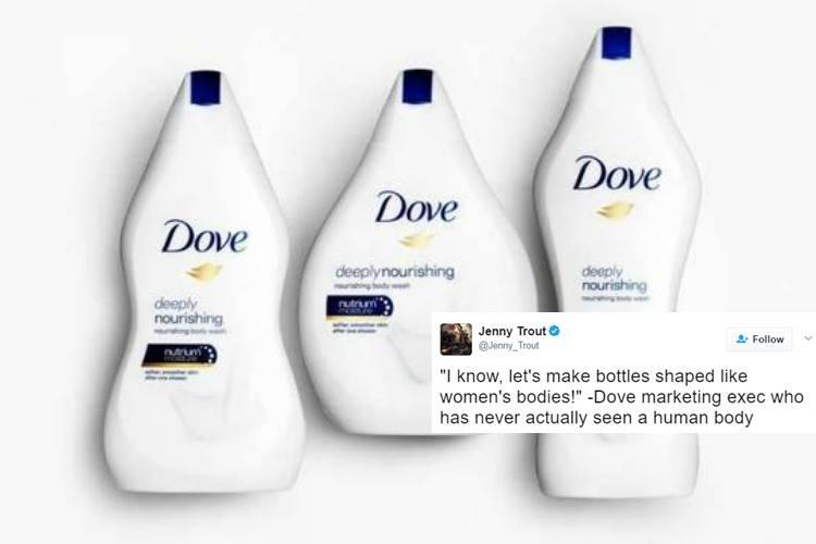 Dove Introduces Bottles Shaped Like Female Body Types