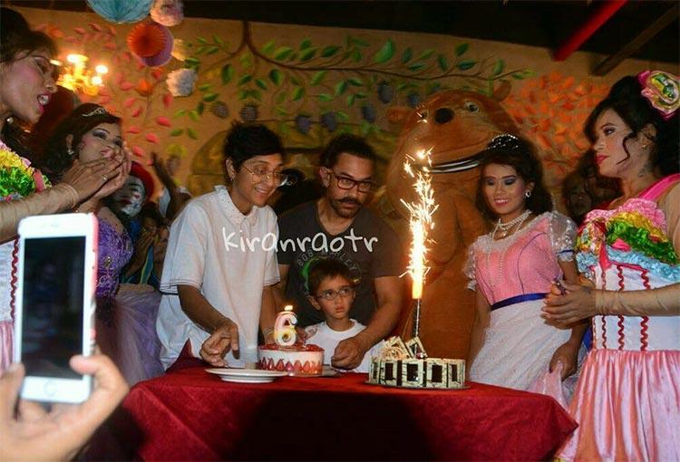 Aamir Khan celebrating son Azad's birthday with Kiran Rao