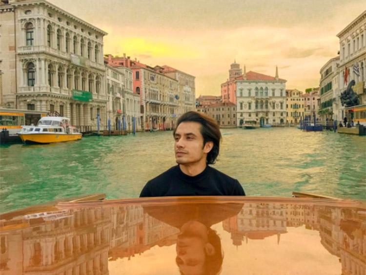 Ali Zafar vacationing in Venice
