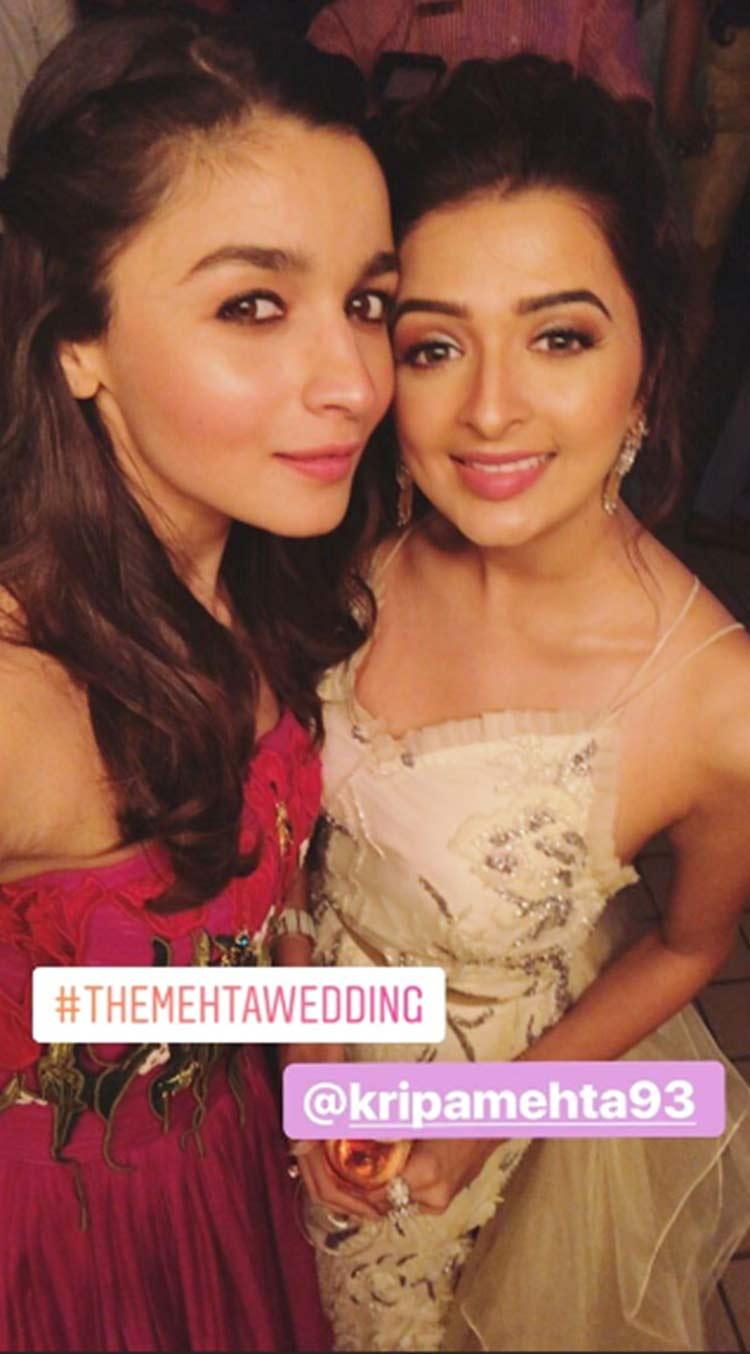 Alia Bhatt at her friend's wedding