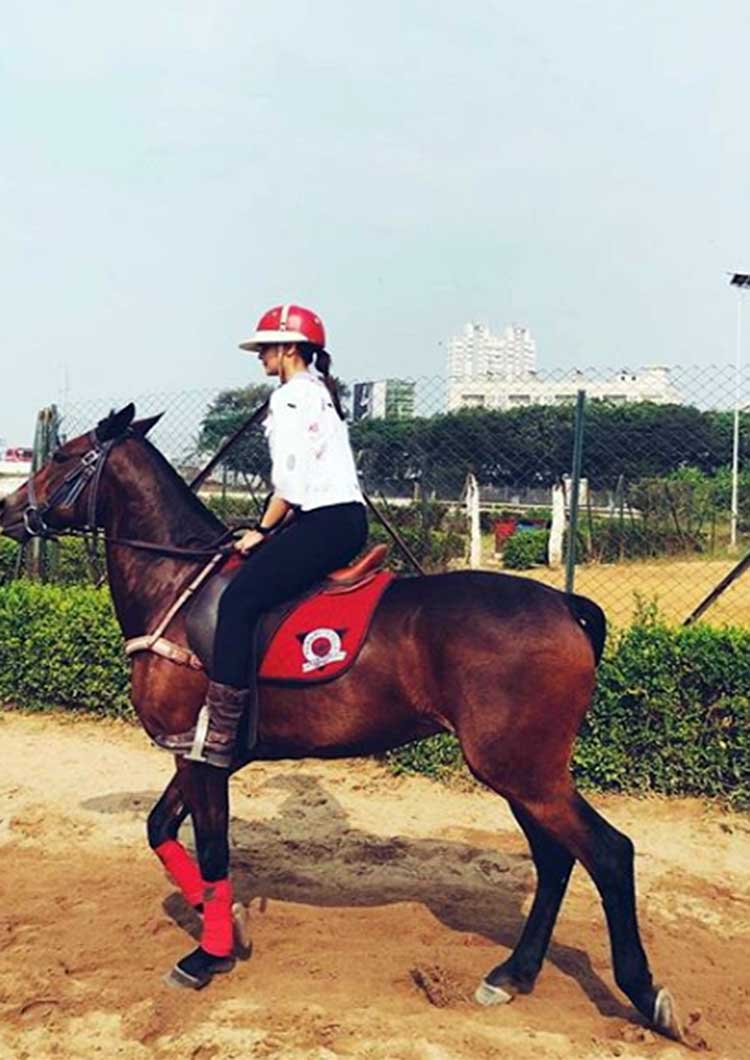 Alia Bhatt caught candid during her horse riding sessions