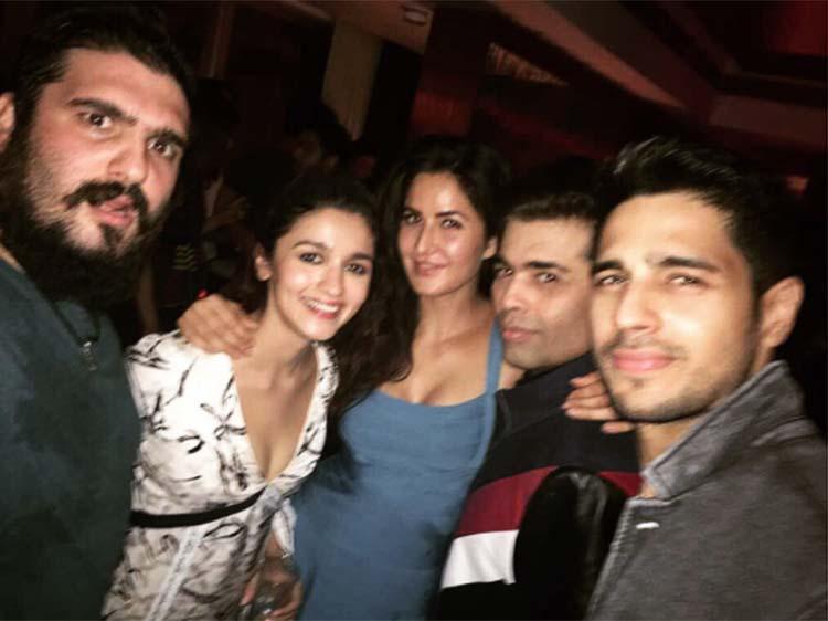 Alia Bhatt partying with Katrina Kaif, Karan Johar, Sidharth Malhotra