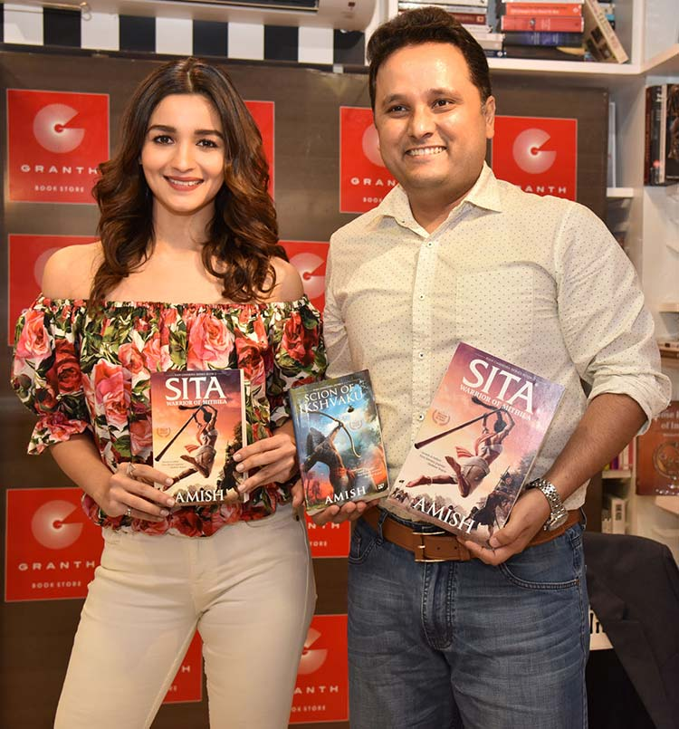 Alia Bhatt with author Amish Tripathi