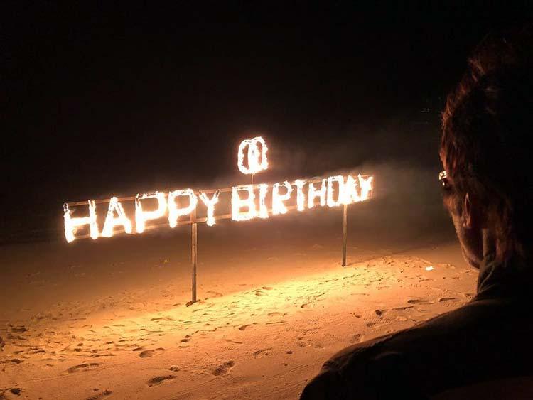 Amitabh Bachchan celebrating his 75th birthday