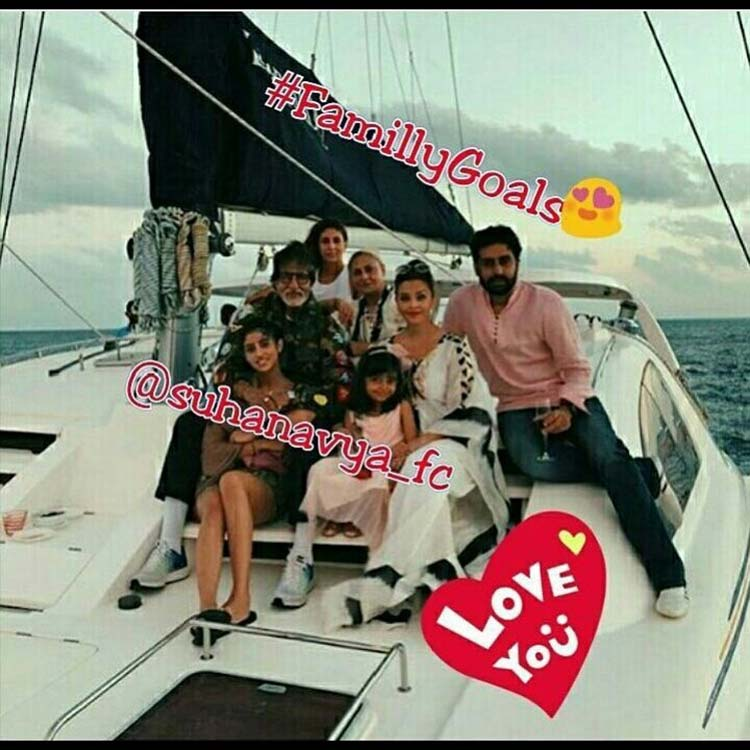 Amitabh Bachchan on his birthday vacation with family