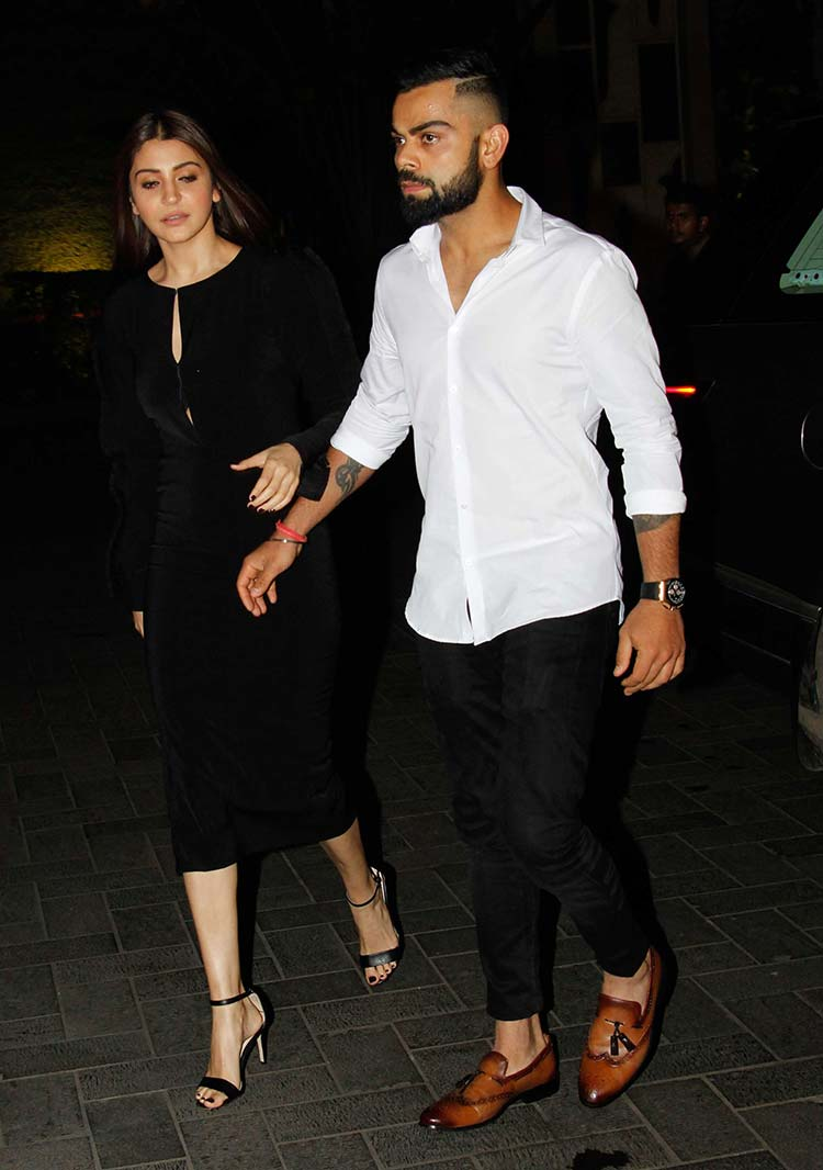 f7b8d284af In Pics  Lovebirds Virat and Anushka stealing the thunder from ...