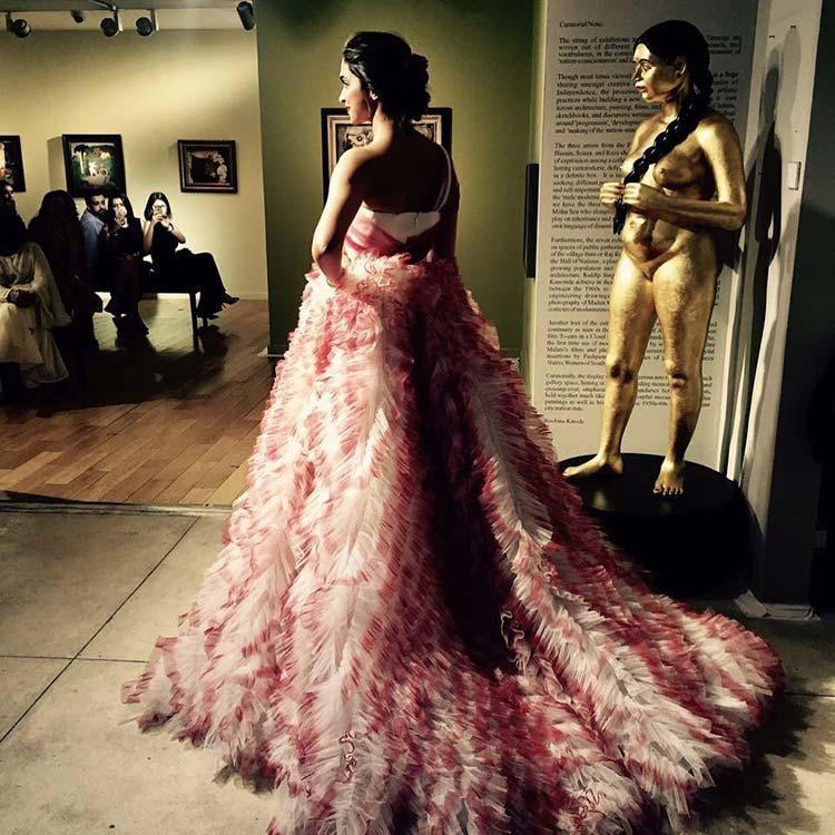 Deepika Padukone gracing Gauri and Nainika's fashion show