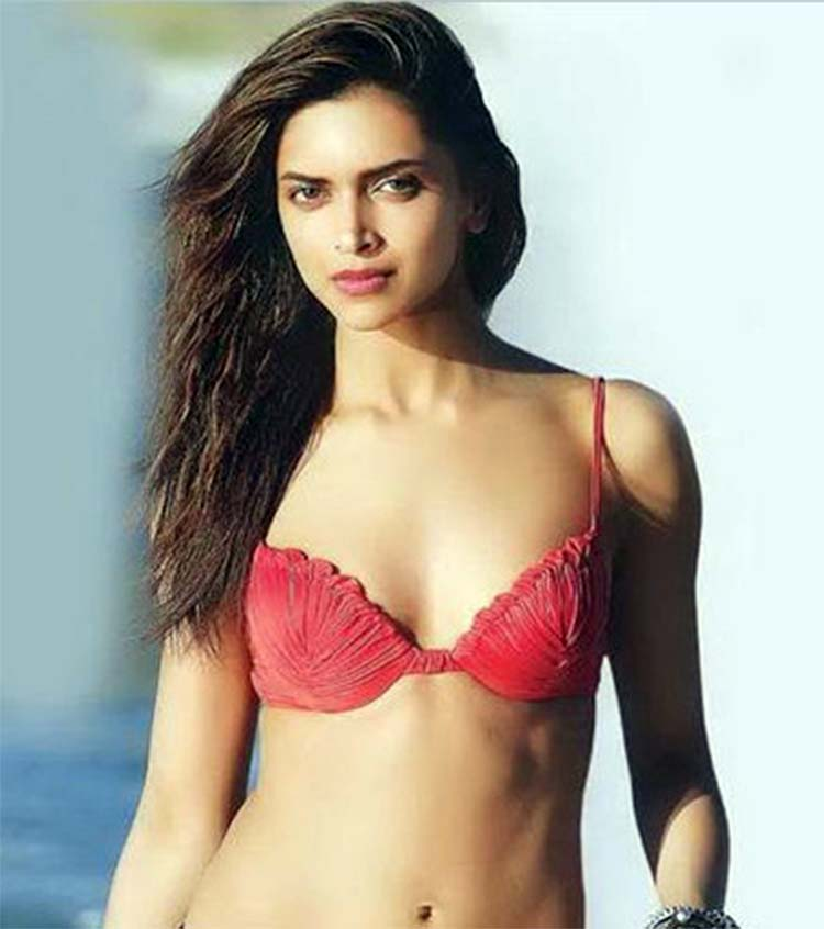 Deepika Padukone looks sexy AF in her red bikini top