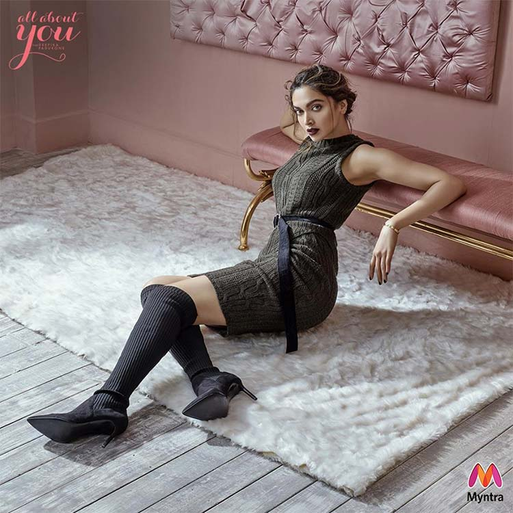 Hot Deepika Padukone launching the winter collection for Myntra