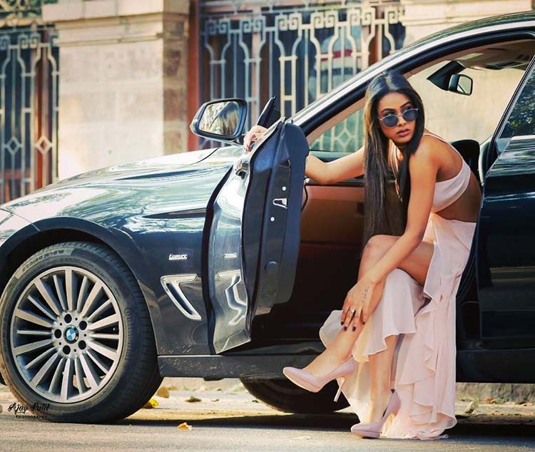 Hot Nia Sharma is parking her wheels in your hearts