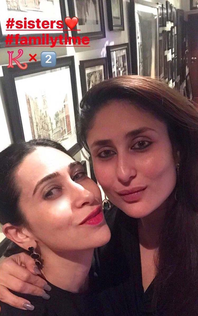 Kareena Kapoor parties with sister Karisma Kapoor