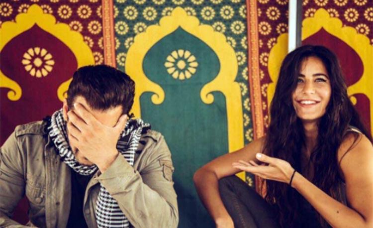 Katrina Kaif makes Salman Khan blush on the sets of Tiger Zinda Hai