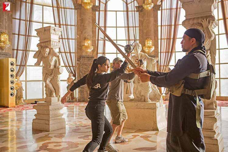 Katrina Kaif trains in sword fighting on sets of Tiger Zinda Hai