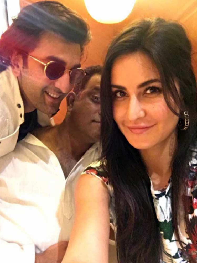 Katrina Kaif's personal photo with Ranbir Kapoor and Anurag Basu