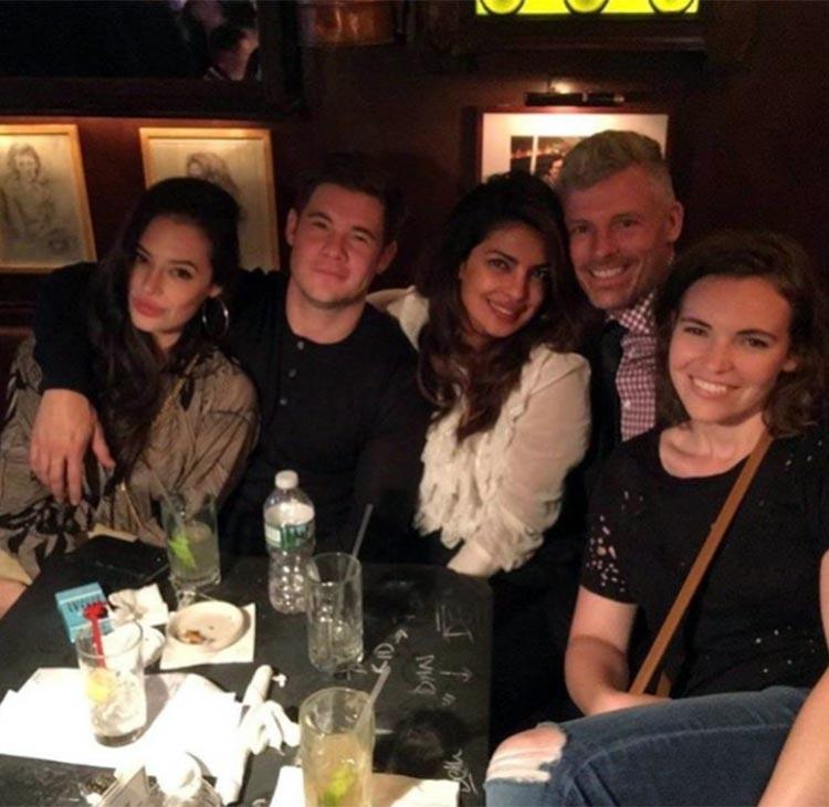 Priyanka Chopra enjoying a post show hang with Hollywoodians