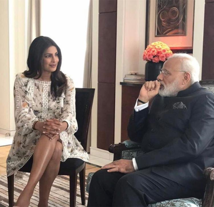 Priyanka Chopra meets Prime Minister Narendra Modi in Berlin