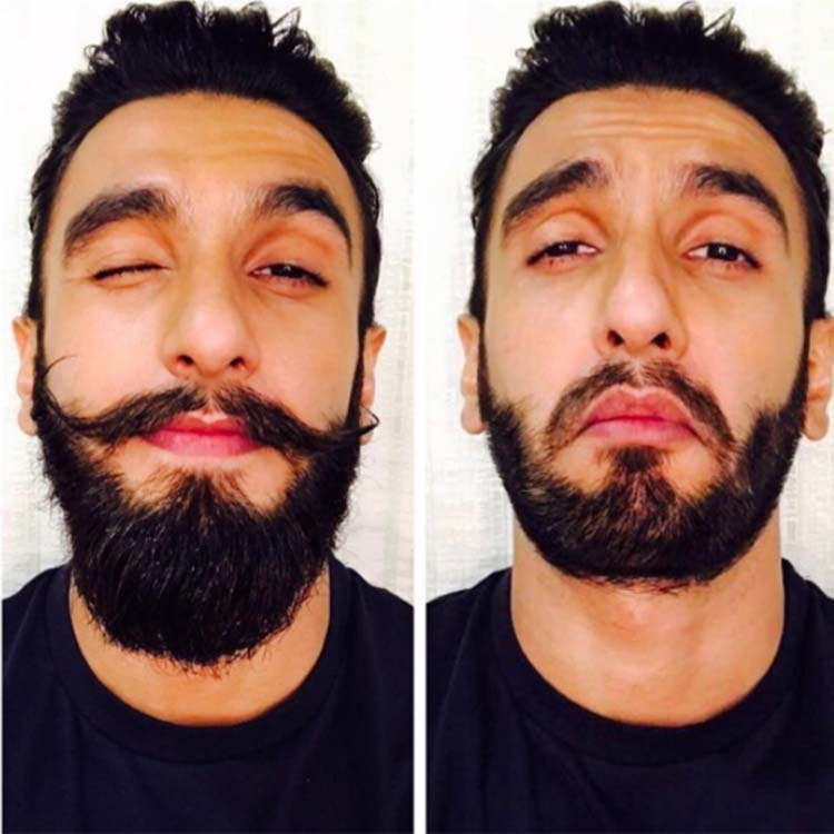Ranveer Singh before and after his beard 'mundan'