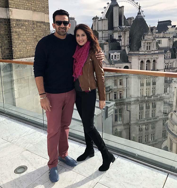 Sagarika Ghatge and Zaheer Khan soaking up some London sun