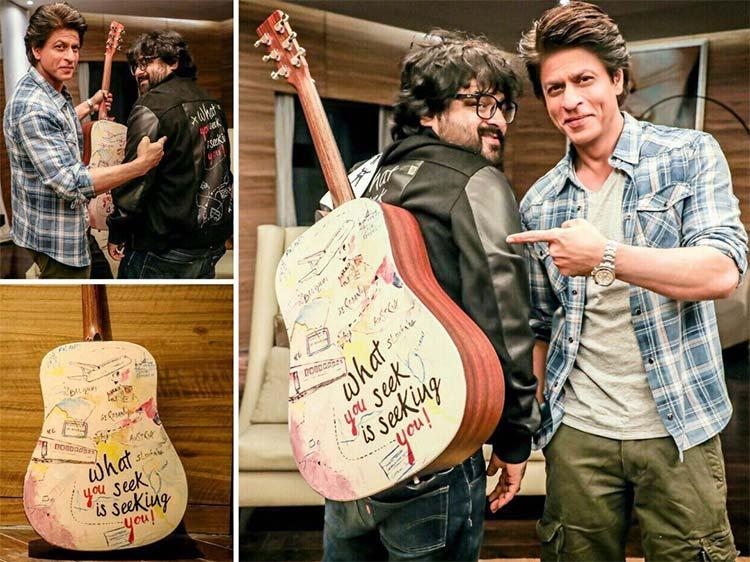Shah Rukh Khan gifts Pritam a guitar